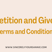 Competition and Giveaway Terms and Conditions